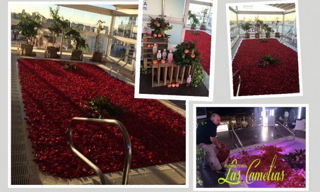 Decoración floral para eventos.