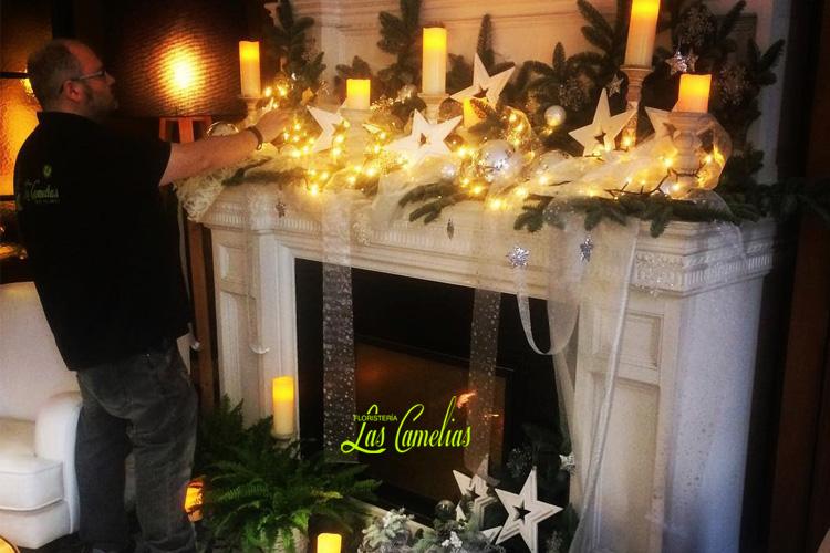 decoración floral navidad hogares