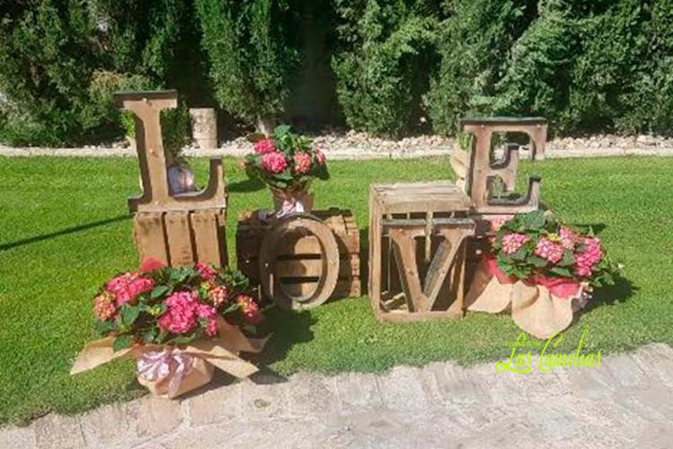 Decoración floras exteriores bodas Madrid